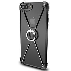 Voor Ringhouder hoesje Bumper hoesje Effen kleur Hard Aluminium voor Apple iPhone 7 Plus / iPhone 7