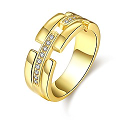 Ring AAA Cubic Zirconia Zircon Cubic Zirconia Alloy Simple Style Fashion Gold Silver Rose Pink Jewelry Casual 1pc