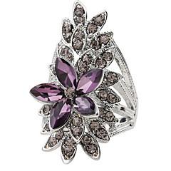 Yüzükler / Günlük Mücevher alaşım Kadın Yüzük 1pc,7 8 9 Gümüş