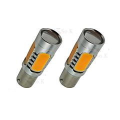 2x amarelo sinal de 7.5W freio cauda bau15s 1156py alta potência LED lâmpadas 7507