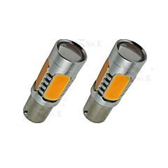 2x gelb hohe Leistung BAU15S 1156py 7.5W Schwanz Bremssignal LED-Lampen 7507