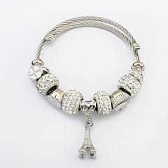 Damskie Bransoletki z breloczkami Stop Modny Silver Biżuteria 1szt