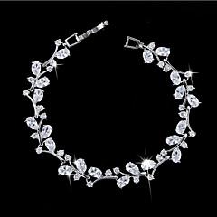 Dames Armbanden met ketting en sluiting Modieus Zirkonia Kubieke Zirkonia Koper Verguld 18K goud Wit Groen Blauw Sieraden VoorFeest