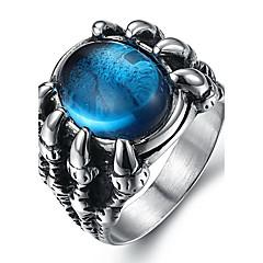Férfi Vallomás gyűrűk Gyűrű Divat jelmez ékszerek Drágakő Titanium Acél Ékszerek Kompatibilitás Napi Hétköznapi