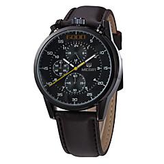 MEGIR Αντρικά Αθλητικό Ρολόι Στρατιωτικό Ρολόι Ρολόι Φορέματος Μοδάτο Ρολόι Ρολόι Καρπού Χαλαζίας Ψηφιακό Ημερολόγιο Γνήσιο δέρμα Μπάντα