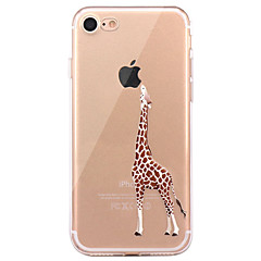 For iPhone 7 7Plus 6S 6Plus SE 5S 5 Case Cover Deer Pattern HD TPU Material Phone Case
