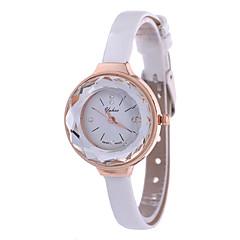 Women's Fashion Watch Wrist watch Quartz PU Band Black White Blue Brown Pink
