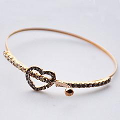 Women's Chain Bracelet Fashion Gold Heart Golden Jewelry For Gift Valentine 1pc