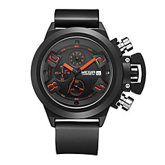 MEGIR Ανδρικά Αθλητικό Ρολόι Στρατιωτικό Ρολόι Ρολόι Φορέματος Μοδάτο Ρολόι Ρολόι Καρπού Χαλαζίας ΨηφιακόΗμερολόγιο Χρονογράφος Ανθεκτικό