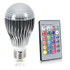 LED RGB Bulb E27/E26  10W Remote Control Color Changing LED Wall Light Bulb RGB 16 Color Lamp 85-265V
