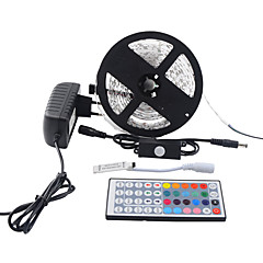 5m 5050 150 smd IP65 rgb ac 100-240vwith PIR automatische bewegingssensor schakelaar 12v 3a voeding strip licht set met voeding