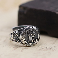 Men's Women's Ring Jewelry Adjustable Open Sterling Silver Jewelry For Daily Casual