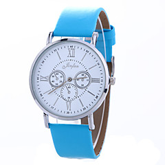 Women's Wrist watch Casual Watch Quartz PU Band Black White Blue Brown