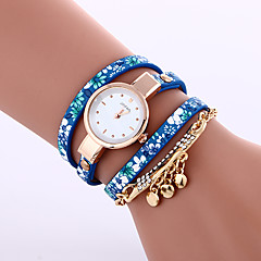 Women's Bracelet Watch Quartz Leather Band Black Blue Grey Strap Watch