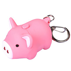 Keychain Jewelry Unique Design Unisex Cool Casual Assorted Colored Adorable Pig LED Personalize Wallet Accessories