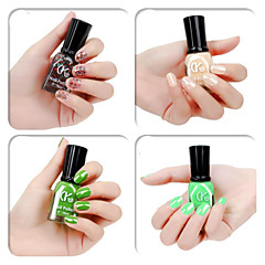 4 Färger Grön Candy Color Nagellack (16 ml, blandade färger)