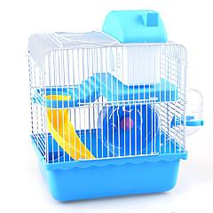 Rongeurs Cages Multifonction Métal Plastique Bleu Marron Rose