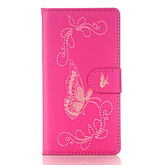 For SONY Xperia X XZ XP Card Holder Wallet with Stand Flip Embossed Case Full Body Case Butterfly Hard PU Leather for SONY Xperia E5