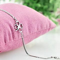 Armbanden met ketting en sluiting Modieus Kostuum juwelen Verzilverd Bloemvorm Klavertje vier Sieraden Voor