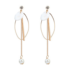 Drop Earrings Hoop Earrings Copper Cowry Fashion Gold Jewelry Party Daily 1 pair