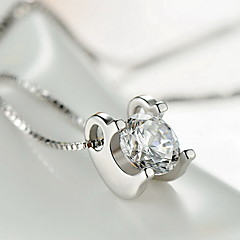 Pendants Sterling Silver Zircon Cubic Zirconia Basic Unique Design Fashion Silver Jewelry Daily Casual 1pc