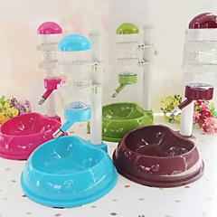 Katze Hund Schalen & Wasser Flaschen Haustiere Schüsseln & Füttern Wasserdicht grün blau braun Rosé Kunststoff
