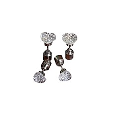 Heart-shaped Earring Glow Earring The Ruins of Five-pointed Star Earring Stud Earrings Diamond  Earrings Night Light at a Low Price 2Pairs