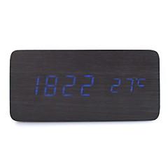 raylinedo® ultima blu legno nero di disegno di modo ha condotto la luce di legno esposizione sveglia digitale -time data temperatura -