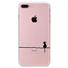 Til iPhone X iPhone 8 iPhone 7 iPhone 6 iPhone 5 etui Etuier Mønster Bagcover Etui Kat Blødt TPU for Apple iPhone X iPhone 8 Plus iPhone