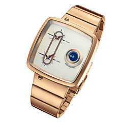 Men's Fashion Watch Unique Creative Watch Quartz / Alloy Band Casual Black Silver Gold Rose Gold Brand