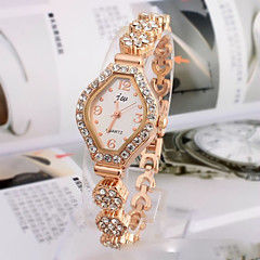Women's Fashion Watch Bracelet Watch Quartz Rhinestone Imitation Diamond Alloy Band Elegant Gold Strap Watch