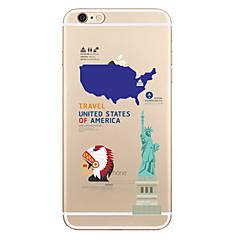 For Transparent Mønster Etui Bagcover Etui Bybillede Blødt TPU for AppleiPhone 7 Plus iPhone 7 iPhone 6s Plus iPhone 6 Plus iPhone 6s