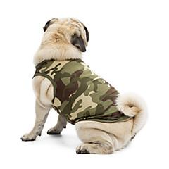 Koty Psy T-shirt Bluzy Yelek Ubrania dla psów Lato Wiosna/jesień kamuflaż Urocze Sportowy Klasyczny Motyw świąteczny Modny CodzienneBlack