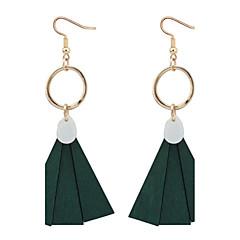 Dråbeøreringe Store øreringe Imiteret Perle Plastik Muslingeskal minimalistisk stil Sort Rød Grøn Smykker Afslappet 1 par