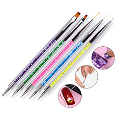 5pcs Double Head Drill Bit Pen With 5 Color Pen