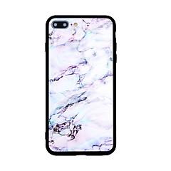 Kompatibilitás iPhone X iPhone 8 tokok Minta Hátlap Case Márvány Kemény Akril mert Apple iPhone X iPhone 8 Plus iPhone 8 iPhone 7 Plus