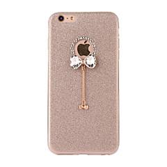 For iPone 7 7 Plus 6S 6 Plus SE 5S Case Cover Flash Powder Series DIY Bow Tie Diamond Pendant TPU Material Phone Case