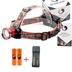 Налобные фонари 2000 Люмен 3 Режим Cree XM-L T6 18650 Фокусировка Компактный размерПоходы/туризм/спелеология Повседневное использование