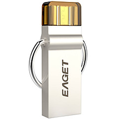eaget 2 in 1 32GB otg USB 3.0 muistitikku hopea