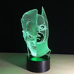 lumières de la nuit conduit acrylique décoloration lampe 3d deux visage atmosphère colorée éclairage nouveauté lampe illusion 3D créative