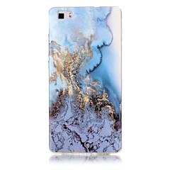 Varten IMD Kuvio Etui Takakuori Etui Marmori Pehmeä TPU varten Huawei Huawei P9 Lite Huawei P8 Lite