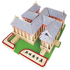 Jigsaw Puzzles DIY KIT Building Blocks 3D Puzzles Educational  Wooden Wanfang Anhe Temple Puzzles Building Blocks DIY Toys Square Famous