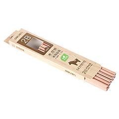 Wood Black Ink Pencils 2B 1 Set of 12 PCS