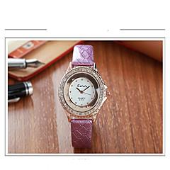 Women's Fashion Watch Simulated Diamond Watch Quartz Leather Band Casual Black White Blue Red Purple