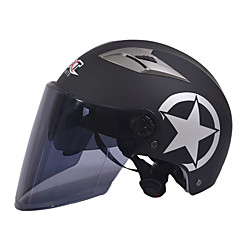 GXT M11 Motorcycle Half Helmet Dual-Lens Harley Sunscreen Helmet Summer Unisex Suitable For 55-61CM with Long Tea Mirror Lens