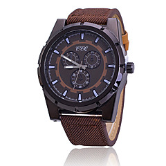 Sport Watch Fashion Watch Quartz Fabric Band Black Brown