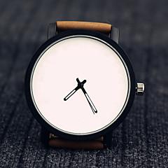 Hombre Unisex Reloj de Moda Reloj de Pulsera Reloj Casual Cuarzo Piel Banda Creativo Cool Negro Marrón