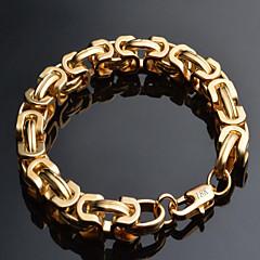 Heren Armbanden met ketting en sluiting Modieus Verguld 18K goud Geometrische vorm Goud Sieraden VoorSpeciale gelegenheden  Verjaardag