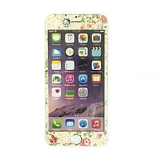 voor Apple iPhone 6 plus / 6s plus 5,5 inch gehard glas met een zachte rand full screen dekking voor screen protector bloemenpatroon