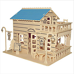 Jigsaw Puzzles Wooden Puzzles Building Blocks DIY Toys  Coffee House 1 Wood Ivory Model & Building Toy